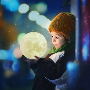 月のライト 18cm