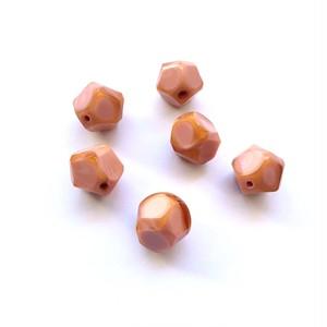 オレンジ縁のピンクのチェコビーズ