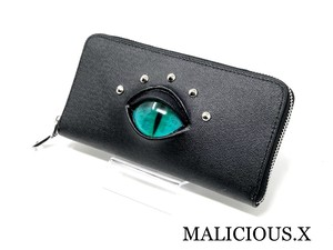 cat eye wallet / turquoise green
