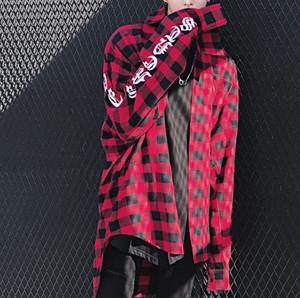 [売れ筋]ビックサイズレッドチェックシャツ