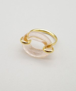 【CLED / クレッド】IN THE LOOP Ring / リング / 14K Gold Filled×Blush Coral