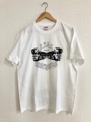 k.w.g.c.  デザインTシャツ #002 トラック WH