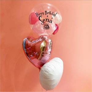【送料無料】Happy Birthday 3bouquet PINK&WHITE