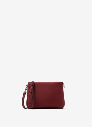 SMALL FAUX LEATHER CROSS BODY BAG
