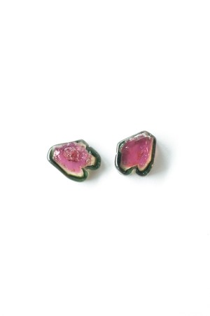 Water Melon Tourmaline / pair-004