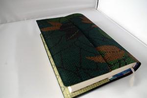 単行本 標準サイズ(絹・越後紬)セパレート式ブックカバー ht051