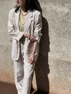 Vintage Ivory Color Tailored Jacket & Trousers