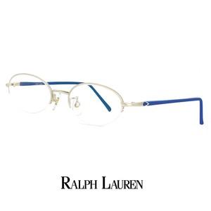 ラルフローレン メガネ rl715-pm 48mm Sサイズ メンズ 男性 小さめ 眼鏡 ralph lauren 軽量 メタル ナイロール ハーフリム オーバル