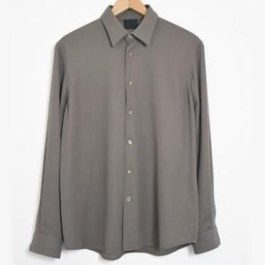 【30% OFF】 山内 強撚コットンサテンシャツ(18s43) ash grey