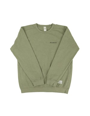 Shaded LOGO Garment Dye Crew Neck / SAND