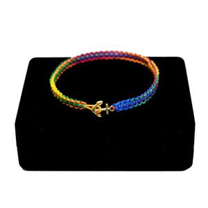 【無料ギフト包装/送料無料/限定】K18 Gold Anchor Bracelet / Anklet Multi【品番 17S2010】
