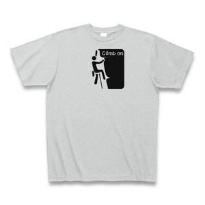クライミング ボルダリング Tシャツ 日和田山 メンズ レディース クルーネック コットン Climb on(クライム オン)