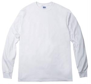 オーバーサイズ クルーネック Tシャツ (長袖) ホワイト