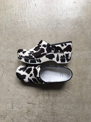 dansko Professional Haircalf Cow Print