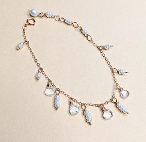 Quartz & pearl bracelet | MIHO meets RUKUS