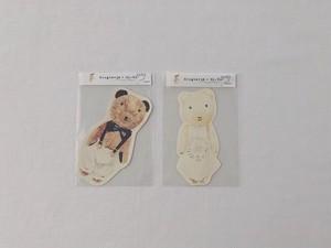 su-su ぐりくまちゃんカード サスペンダー / 白ドレス