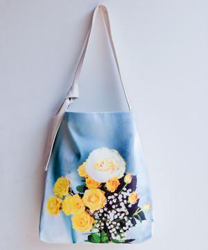 薔薇の花束・トートバッグ /ブルー