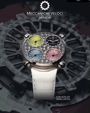 【MECCANICHE VELOCI メカニケ・ヴェローチ】ICON NITELITE WHITE アイコン ナイトライト(ホワイト)日本限定/国内正規品 腕時計