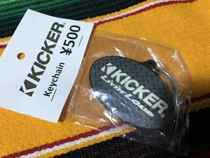 【KICKER】Keychain (gray)