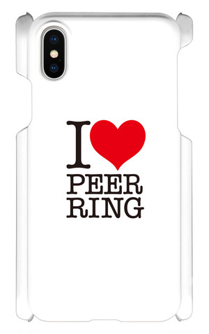 Peer Ringオリジナル スマホケース(iPhoneX用)-I Love PEER RING