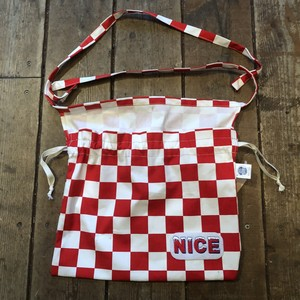 NICE 3-Way Red Cross Bag, Checker Red/White
