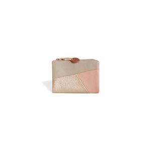 【空気の色 二つ折り財布 / ピンク】コンパクトで軽量 小さいバッグに