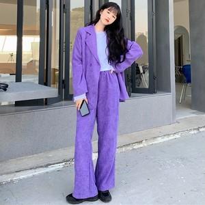 【セット】韓国系長袖ストリート系ファッションスーツ+パンツ41148418
