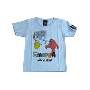 BARBAPAPA×gramo コラボ Tシャツ「pass-T」(ライトブルー/T-018) ※110cm~150cm