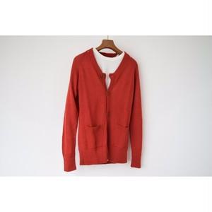 Oruro315-0050-RD Baby Alpaca Cardigan Red