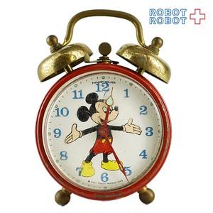 ミッキーマウス 手巻き目覚まし時計 不可動