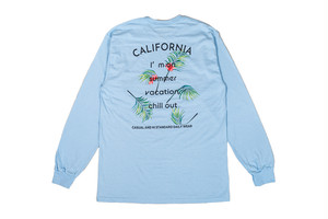 【aloha leaf long sleeve】ocean blue