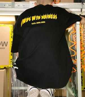 【売り切れ間近】ファイヤーデザインブラックシャツ