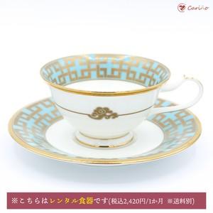 ノリタケ 角つなぎ ティーカップ&ソーサー 220cc(1700045)