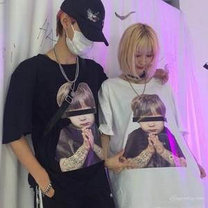 【トップス】ストリート系カジュアル春夏ラウンドネック半袖Tシャツ