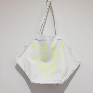 【yes!yes!非非】六角BAG ロゴデザイン(イエロー)
