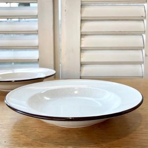 """""""Mikasa"""" Stoneware  Soup Plate 70's JPN"""