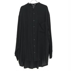【ラスト2枚】keisukeyoneda half pleats flap shirt
