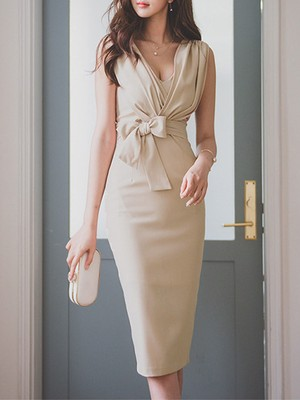 【dress】Elegant V-neck women's party dress