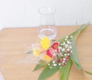 送料込み【お家にお花を飾りましょう 花瓶と花のセット】stay homeを豊かに A-74