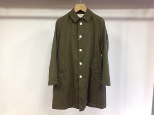 "LIVING CONCEPT ""SOUTIEN COLLAR COAT KHAKI"""