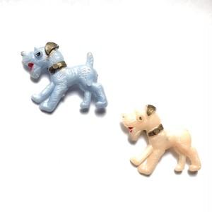 パステル犬のヴィンテージブローチ