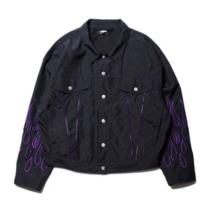 Fire nylon jacket / BLACK