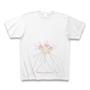 ユキノシタ フラワーイラストTシャツ