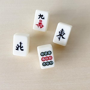 麻雀牌ピンバッジ A東北 (4つセット+オマケ付)