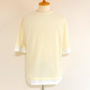 Ripple JQ  Fake  Layered T-shirts(Half Sleeve) Ivory