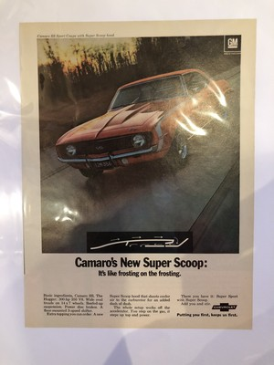 724 アメ車 アメリカ ビンテージ 雑誌 広告 チラシ ポスター インテリア カマロ