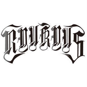 "RYUKYUS""Script logo""Cutting sticker"