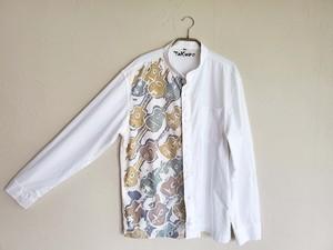メンズ スタンドカラーシャツマカフェリ柄 SHI-0001