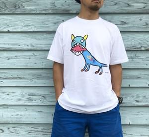 【巨匠動物園】シーサーTシャツ・青