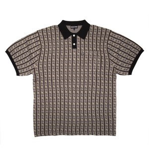 PASS PORT / TILDE KNITTED S/S POLO -GREY-